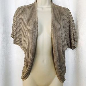 Ann Taylor Short Sleeve Open Front Cardigan